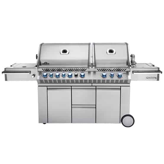 PRESTIGE PRO™ 825 WITH POWER SIDE BURNER AND INFRARED REAR AND BOTTOM BURNERS